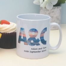 Personalised Sunset Initials Mug - Excellent Keepsake for an Anniversary or a Unique Gift for a Loved One